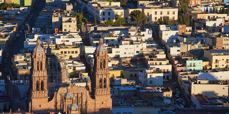 What are the top attraction points in Zacatecas city in Mexico?